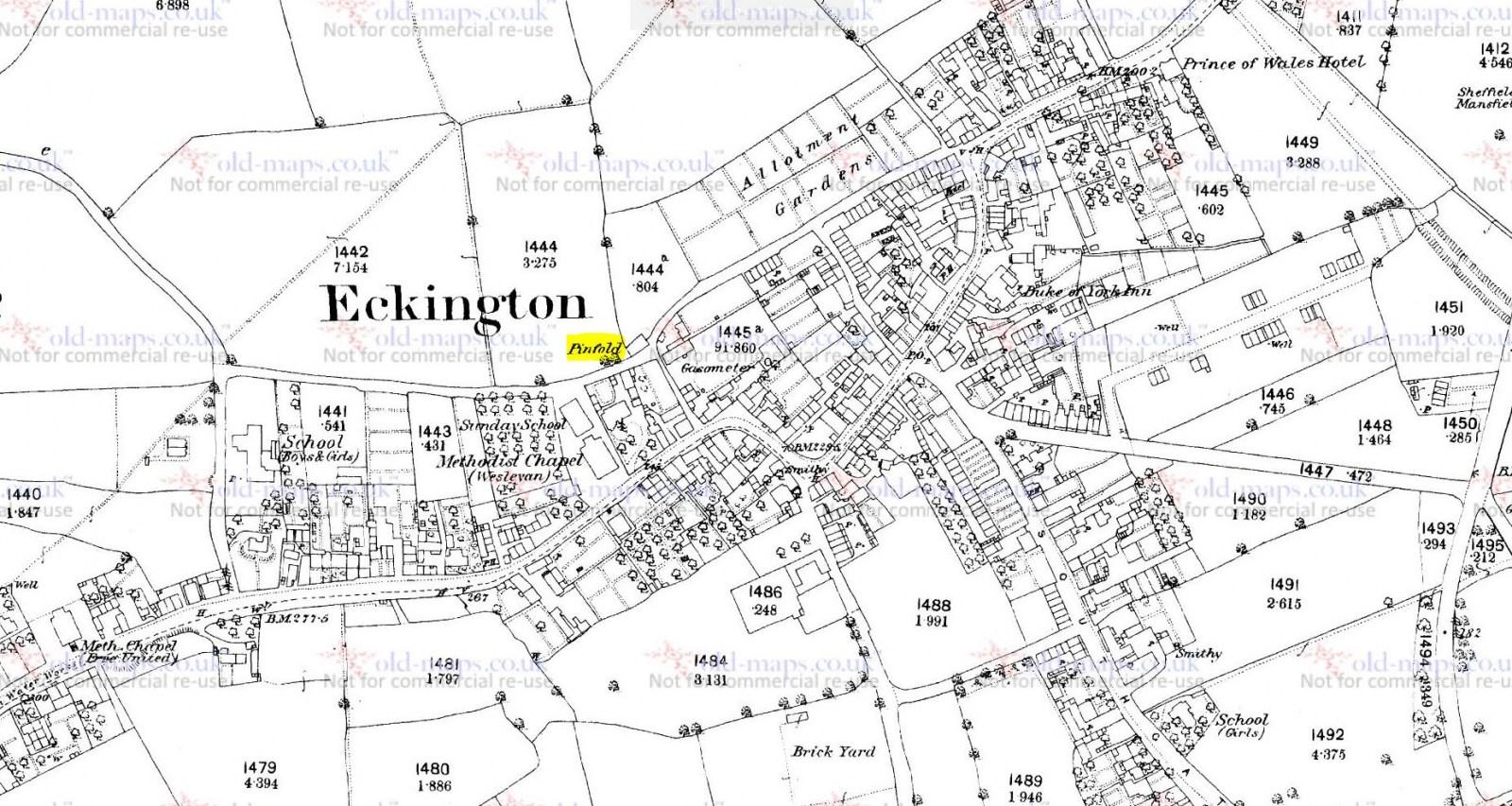Pinfold Street, Eckington 1870s.JPG