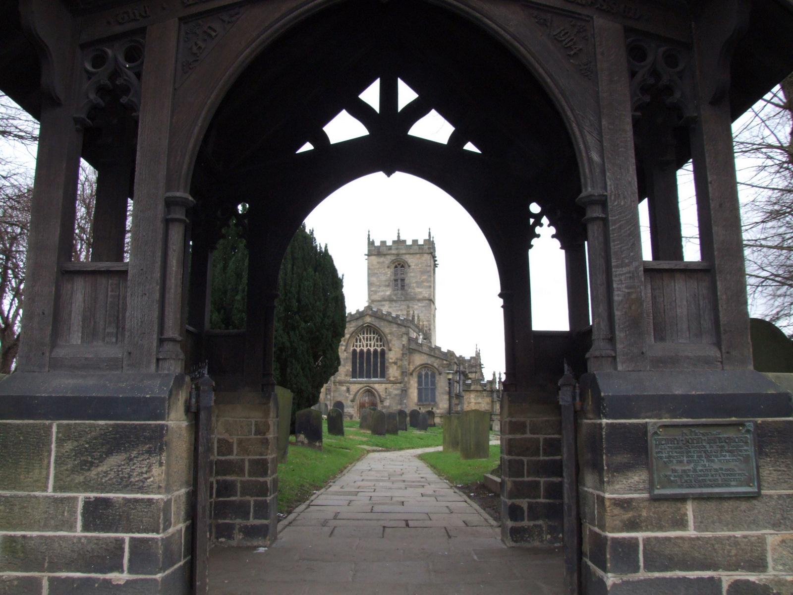 Ecclesfield Church through the lyche gate