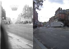 Pinstone Street 1969 and 2008, photos by DaveH
