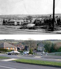 Mickley Lane taken from Baslow Rd,1950's-2008, by Stuart