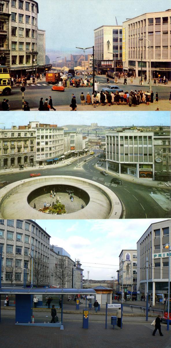 Castle Square, then then & now. By Stuart0742