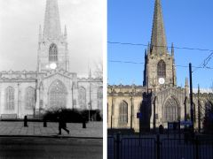 Sheffield Cathedral 1974/2008. Photos by DaveH