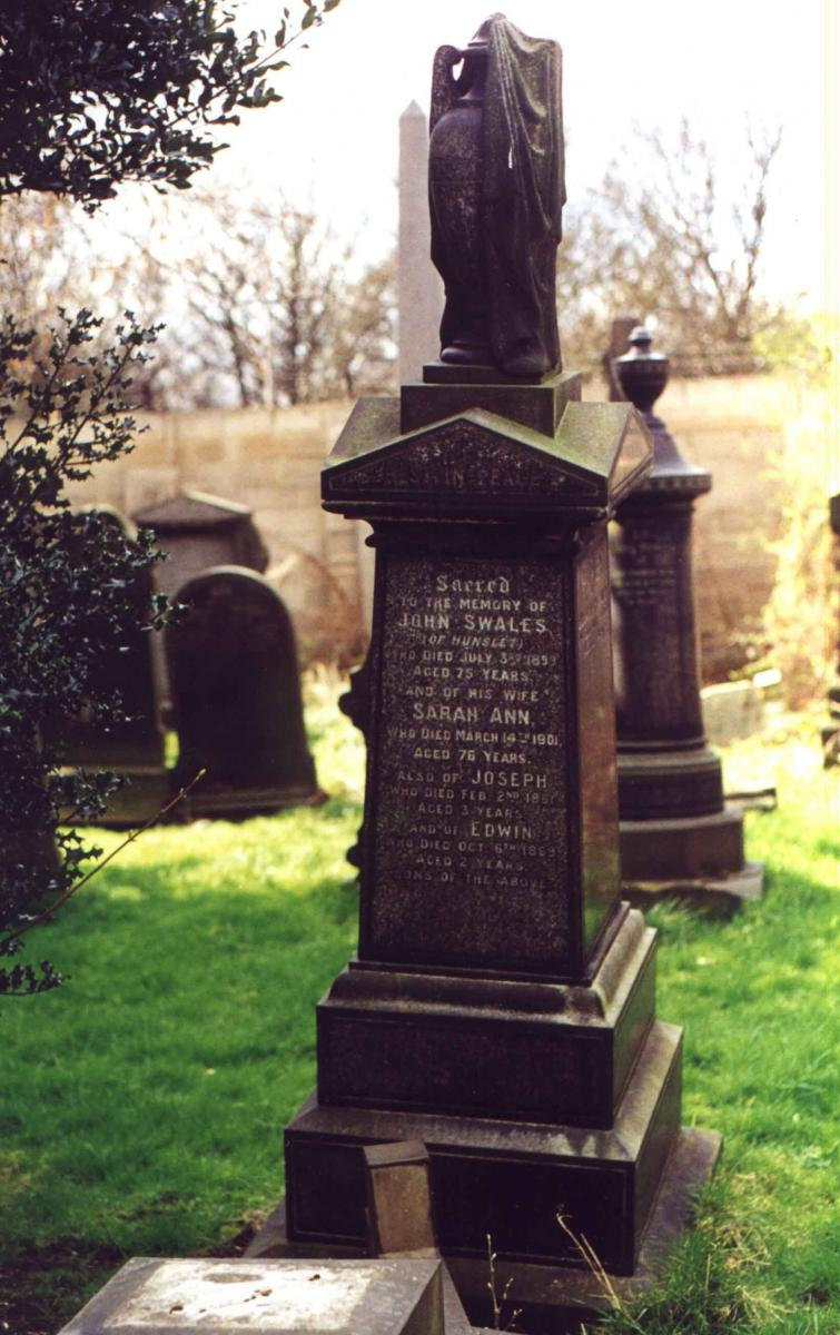 Sarah Ann Holy and John Swales Tombstone