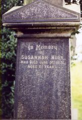 Susannah Holy Tombstone