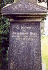 Susannah Holy Tombstone