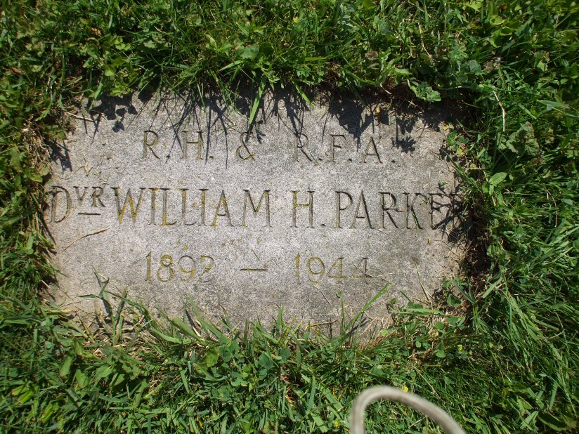 Foot stone for William Henry Parker