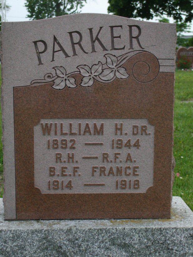 William Henry Parker formerly of Sheffield, England
