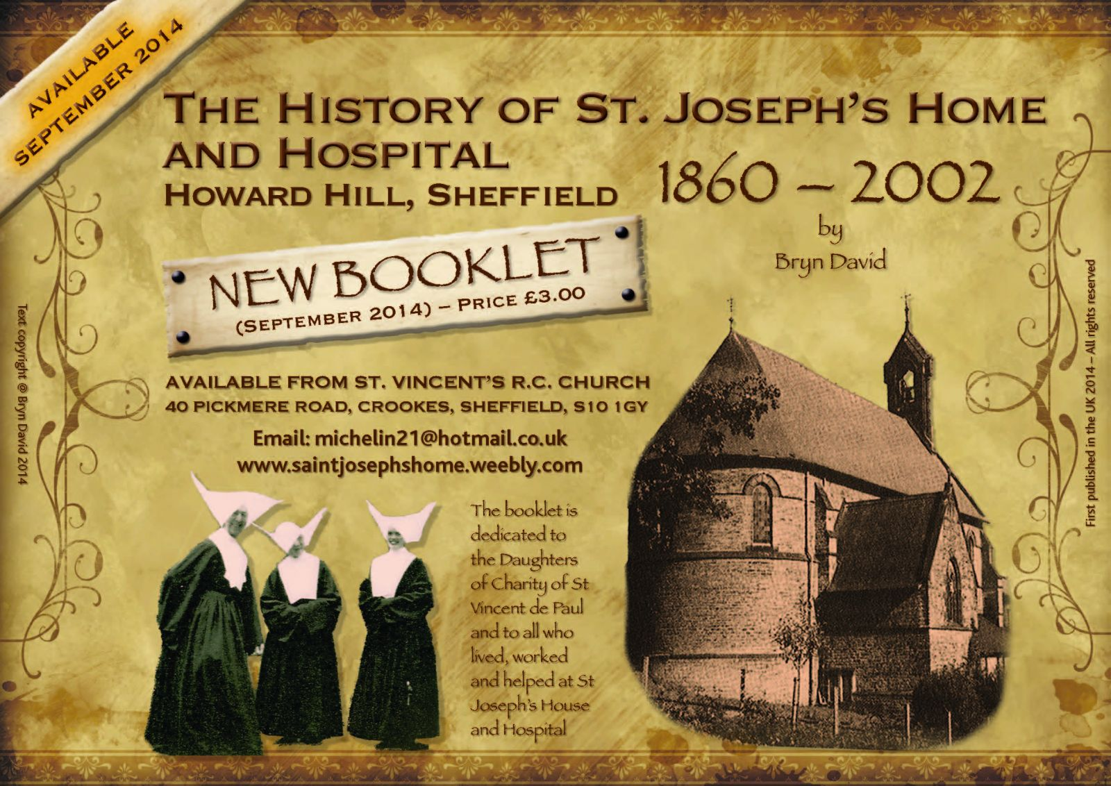 St. Joseph's Home & Hospital : 1860 - 2002
