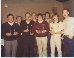Red grouse darts team late 70s