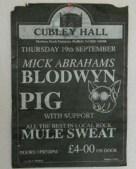 blodwyn Pig Gig poster