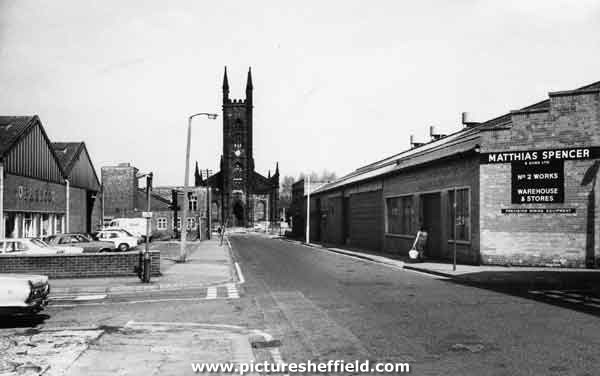 Boston Street, Highfield, with St Mary, Bramall Lane and also Matthias Spencer and Sons Ltd
