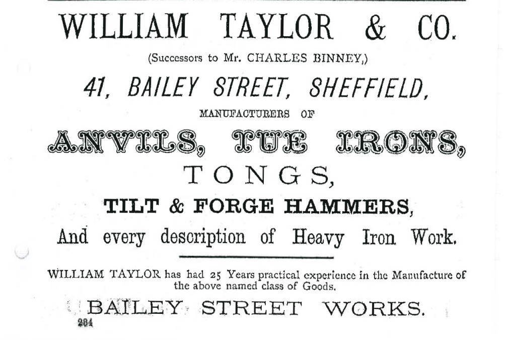 Anvil Manufacturers - SHEFFIELD PLACES - NOW GONE