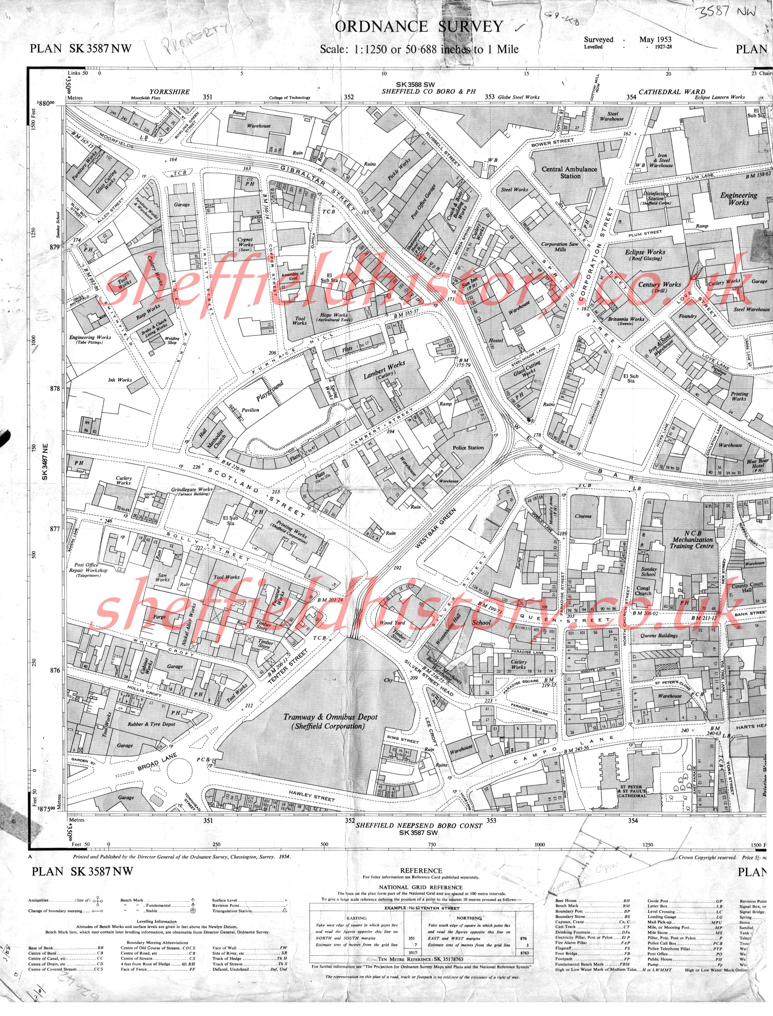 Os Maps Of Sheffield And District 1950s Over 300 Of Them