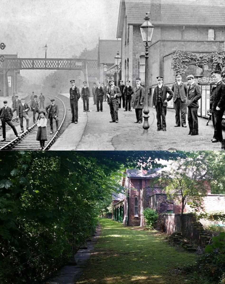 Chapeltown and Thorncliffe Railway Station.Then and Now 1.