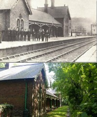 Chapeltown and Thorncliffe Railway Station.Then and Now 2.