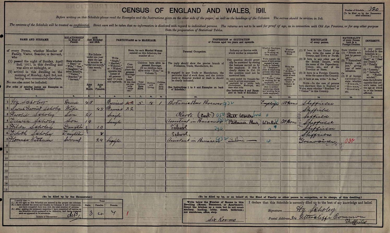 Harry Scholey Census 1911.jpg