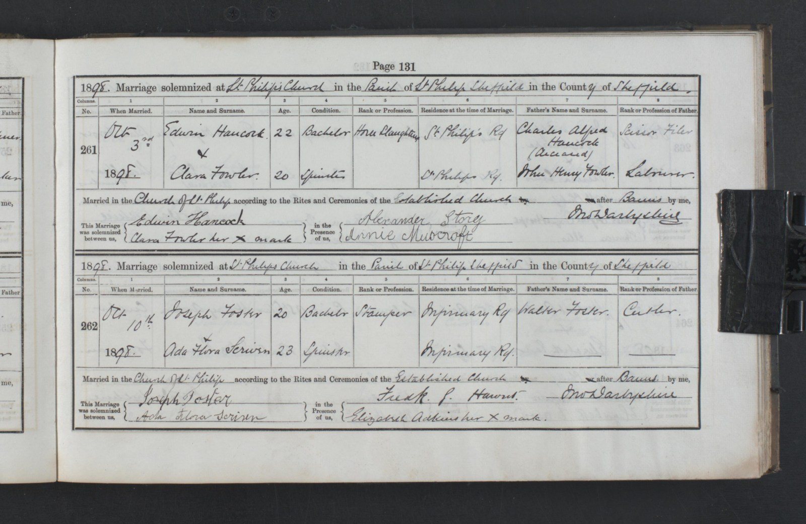 Edwin Hancock's marriage Cert to Clara Fowler.jpg
