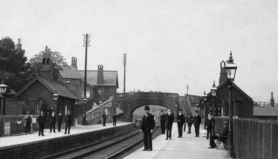 Chapeltown Station before moving to its present location at the side of the Asda