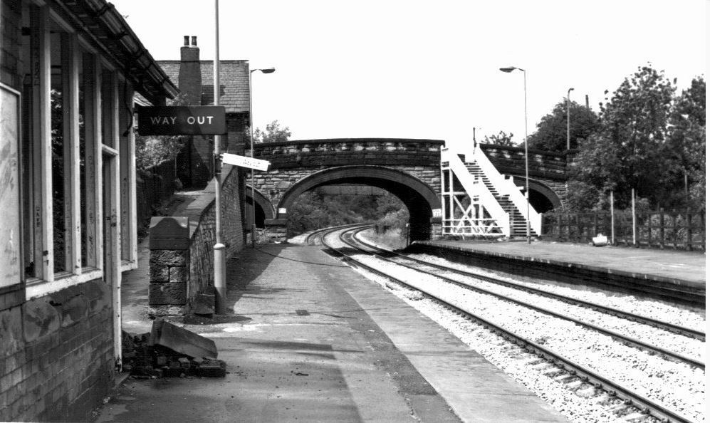 Chapeltown Station before being moved a couple of hundred metres down the track to the side of the Asda.
