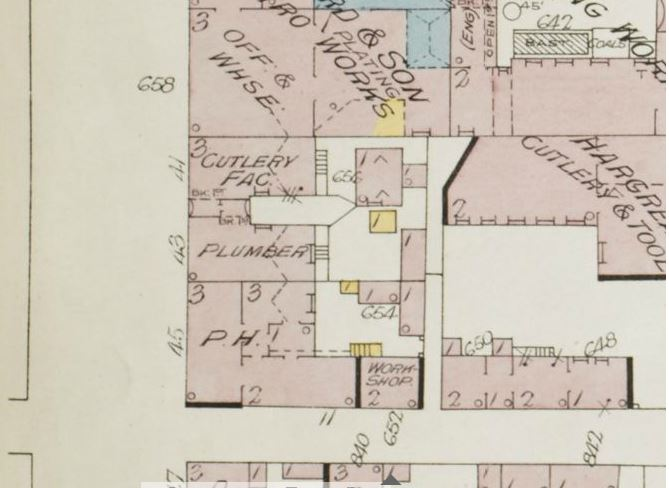 1896 insurance map - 45 Eyre Lane - Foresters arms.JPG