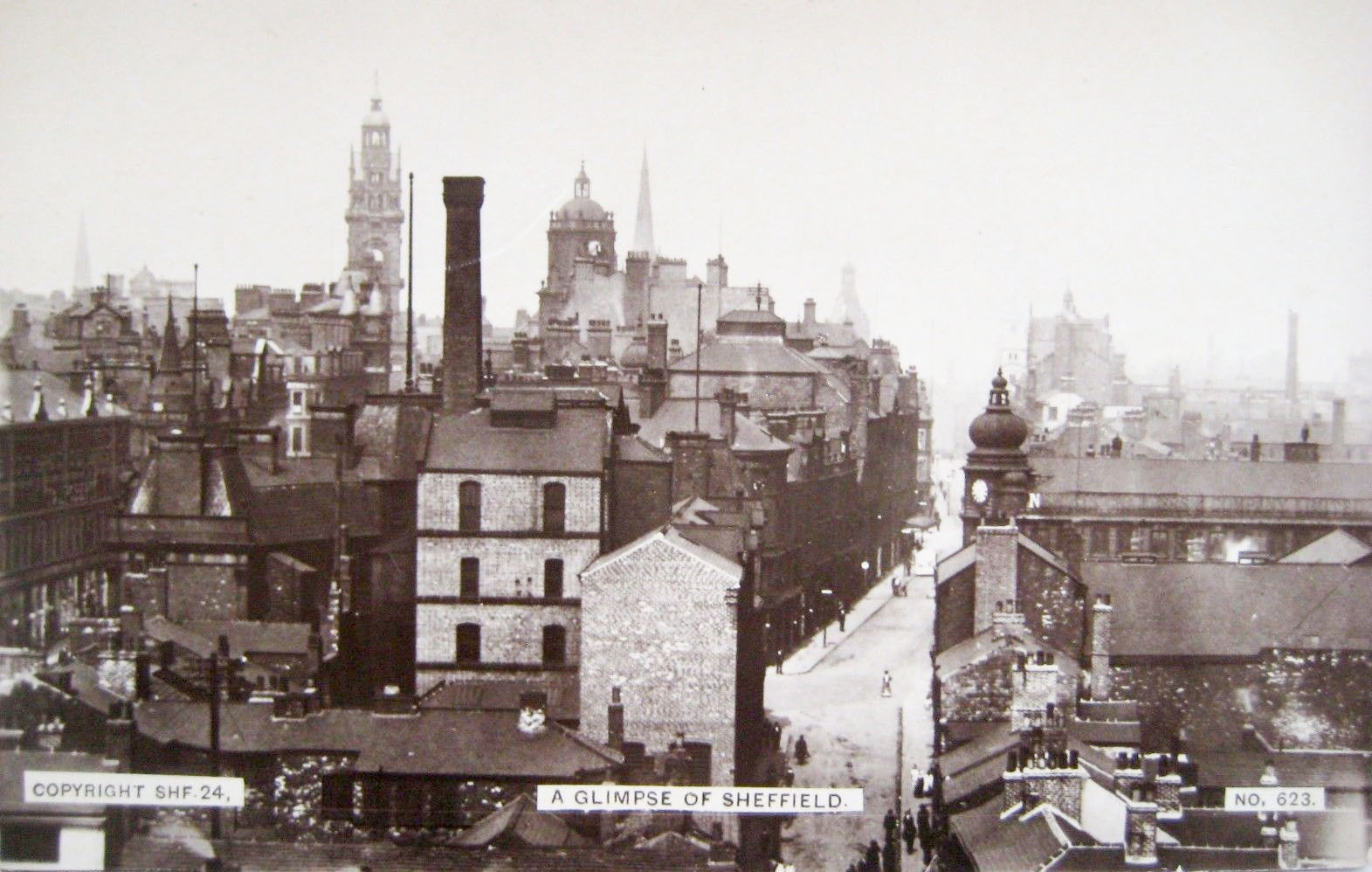 A birds eye view of old sheffield sheffield history chat for The sheffield