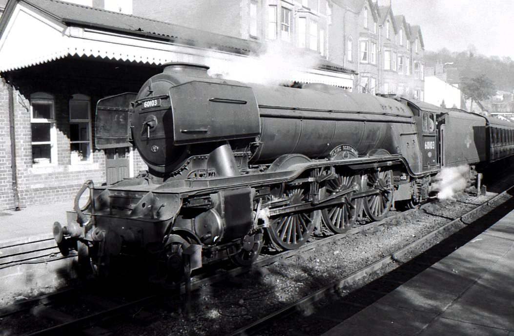 LRS081-DON1564-1923 (Class A1-No.60103-Flying Scotsman)-(24-02-1923 to 15-01-1963) at Llangollen Station-02-04-1994.jpg