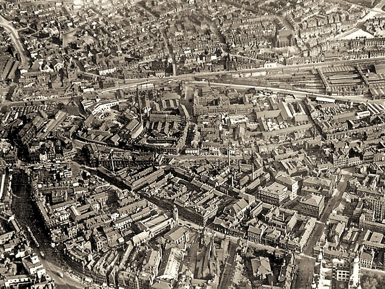 What's left standing from this old photo of Sheffield?
