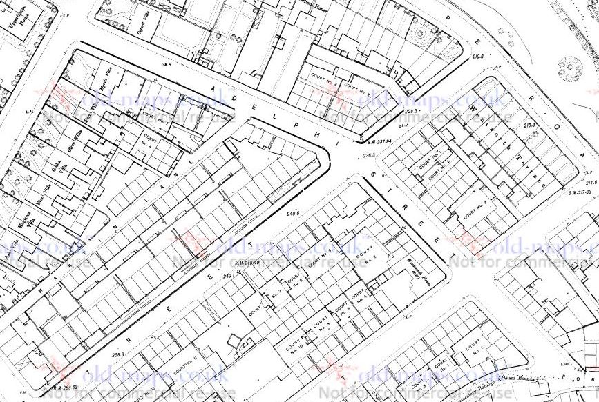 adelphi st 1890 town plan.JPG