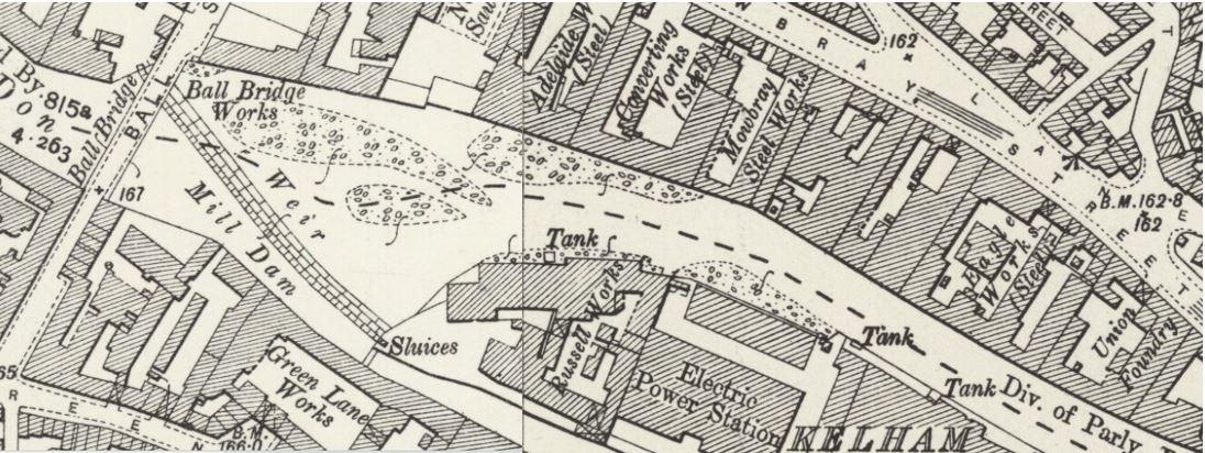 1905 Postcard Kelham Island - map.JPG