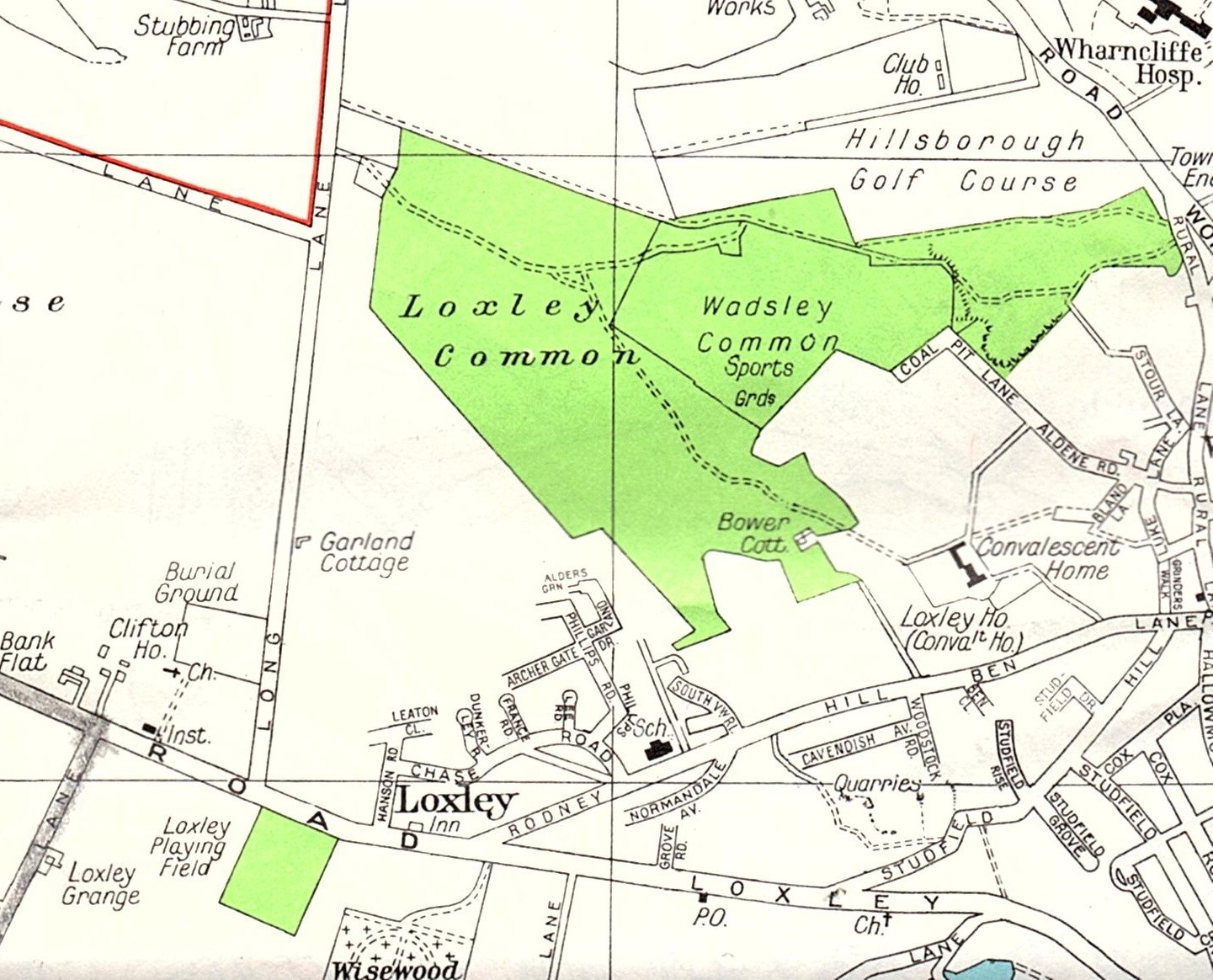 Map Bower Cottage Loxley.jpg