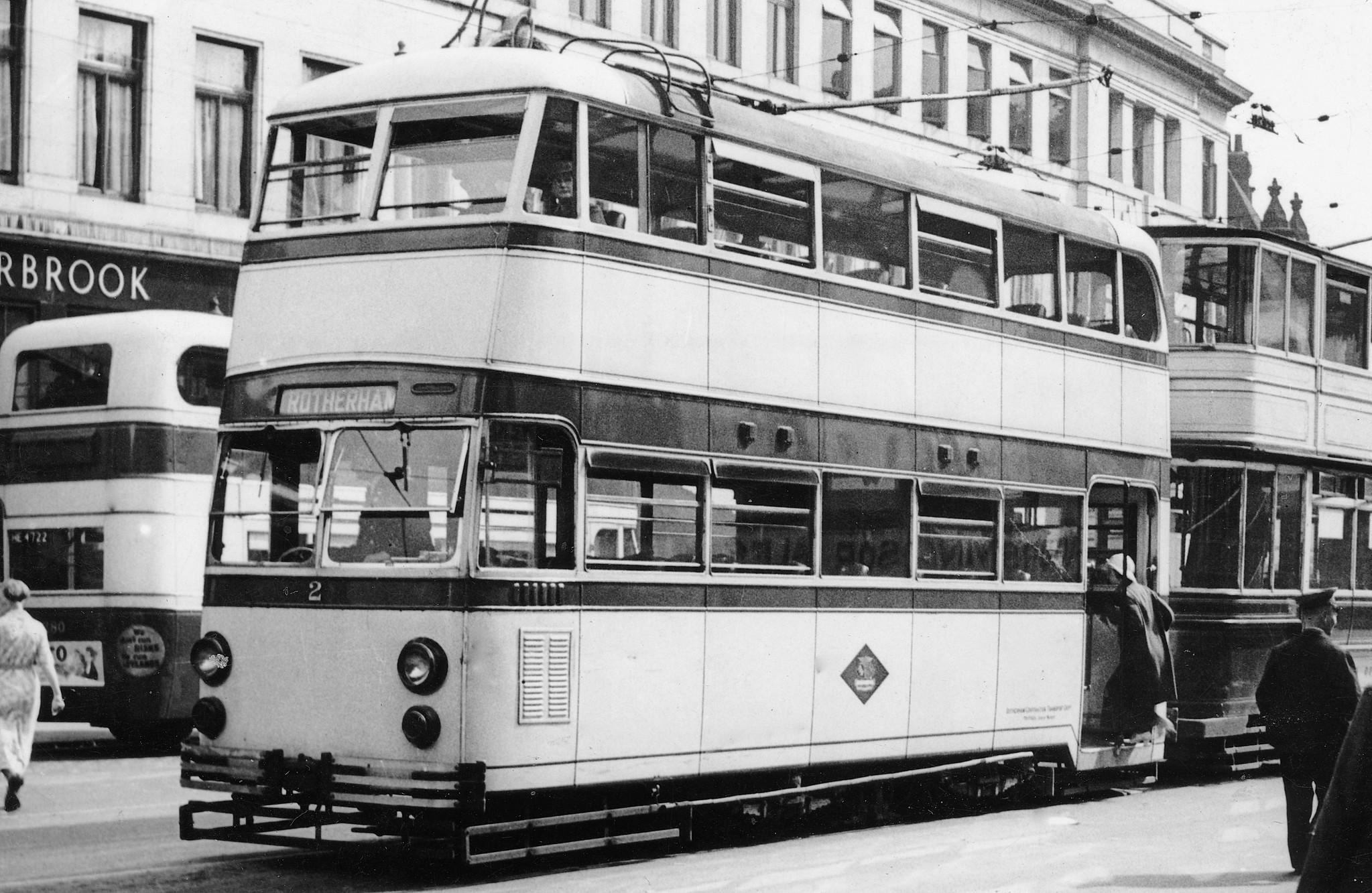 Exposed Tramlines - Sheffield Buses, Trams and Trains