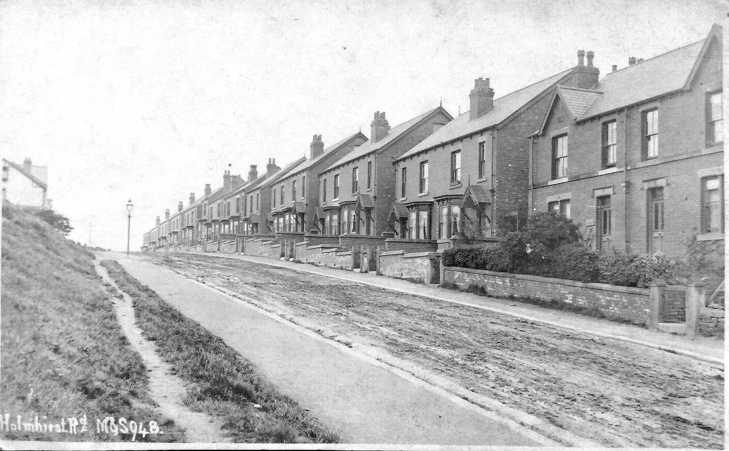 Holmhirst Road, Then and Now From an Ebay Postcard.