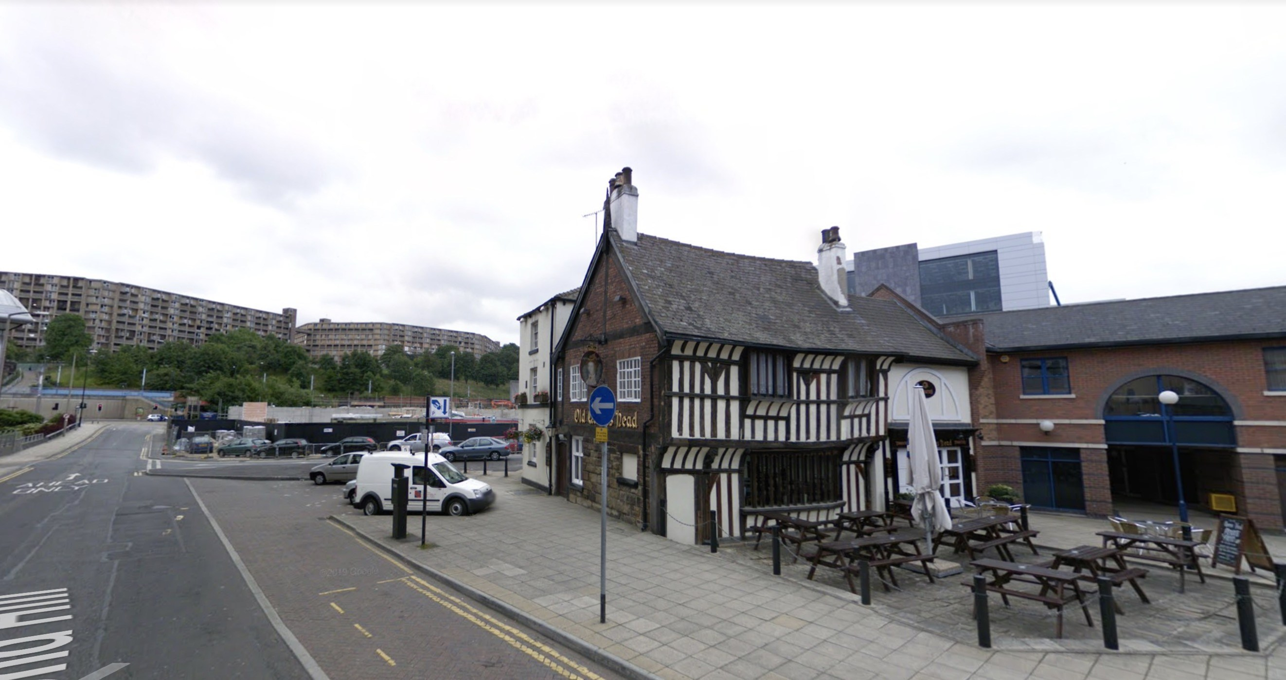 The Old Queens Head pub in Pond Street Sheffield
