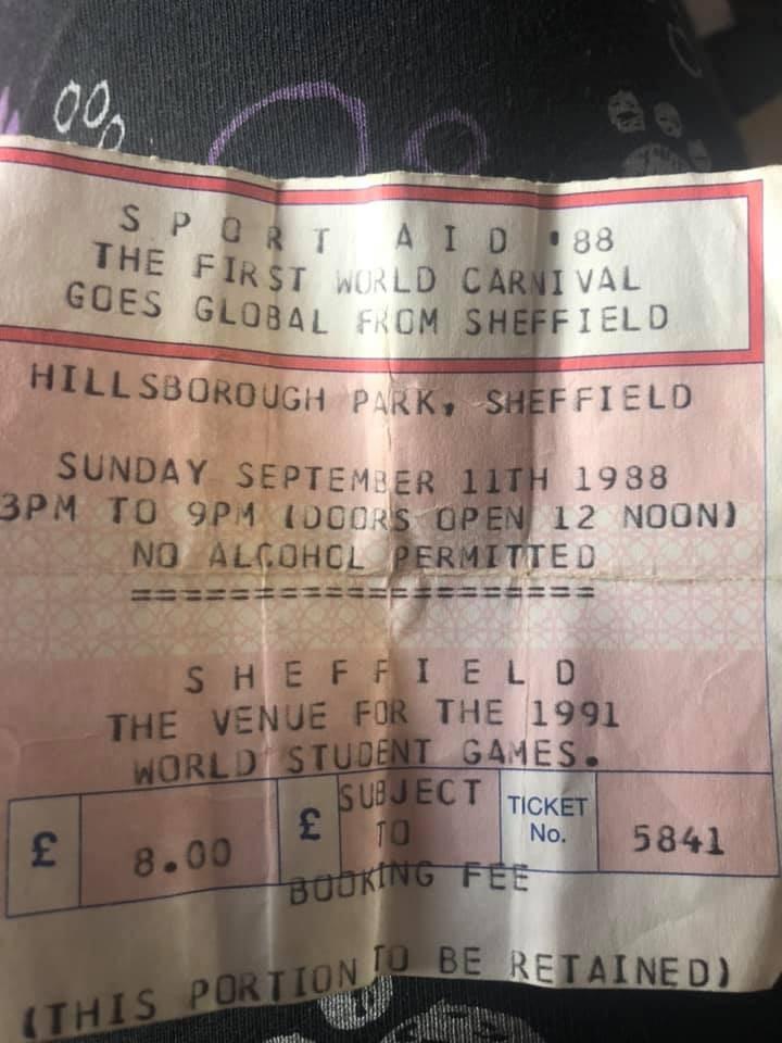Sport Aid 1988 Concert in Hillsborough Park