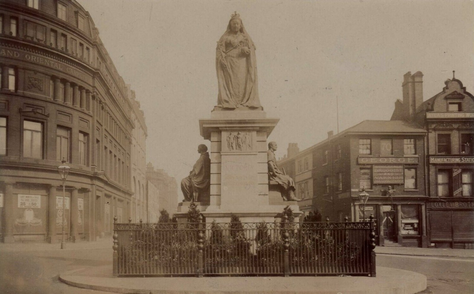 Queen Victoria Monument in Town Hall Square