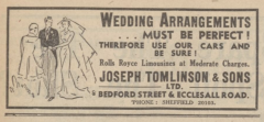 Joseph Tomlinson & Sons Ltd. advert 1939