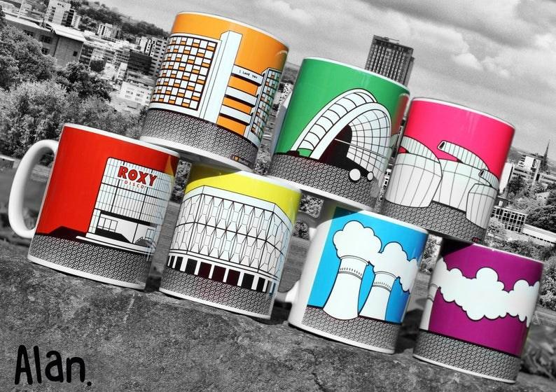 Iconic Sheffield Landmarks Painted Onto Mugs