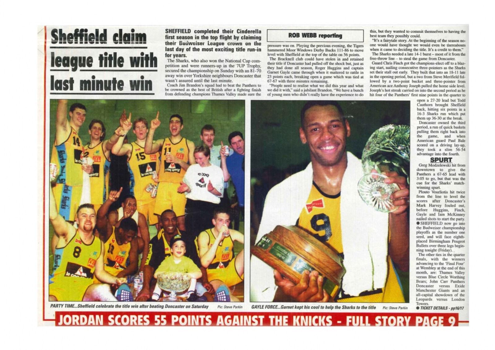 Sheffield Sharks Budwieser Basketball Champions 1995.jpg