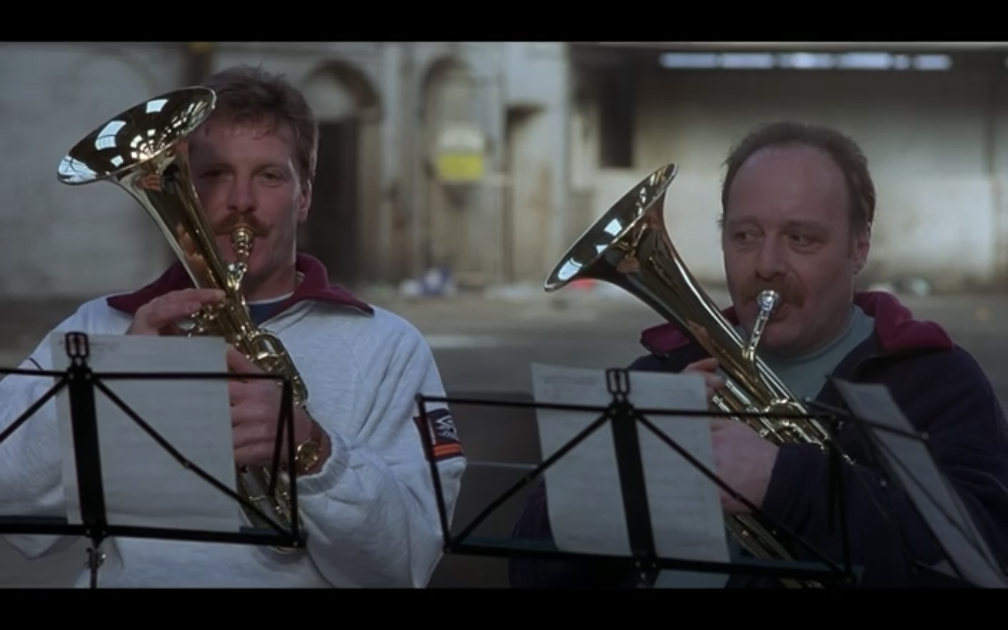 The Brass Band rehearsal with Lomper - Full Monty Filming Location in Sheffield