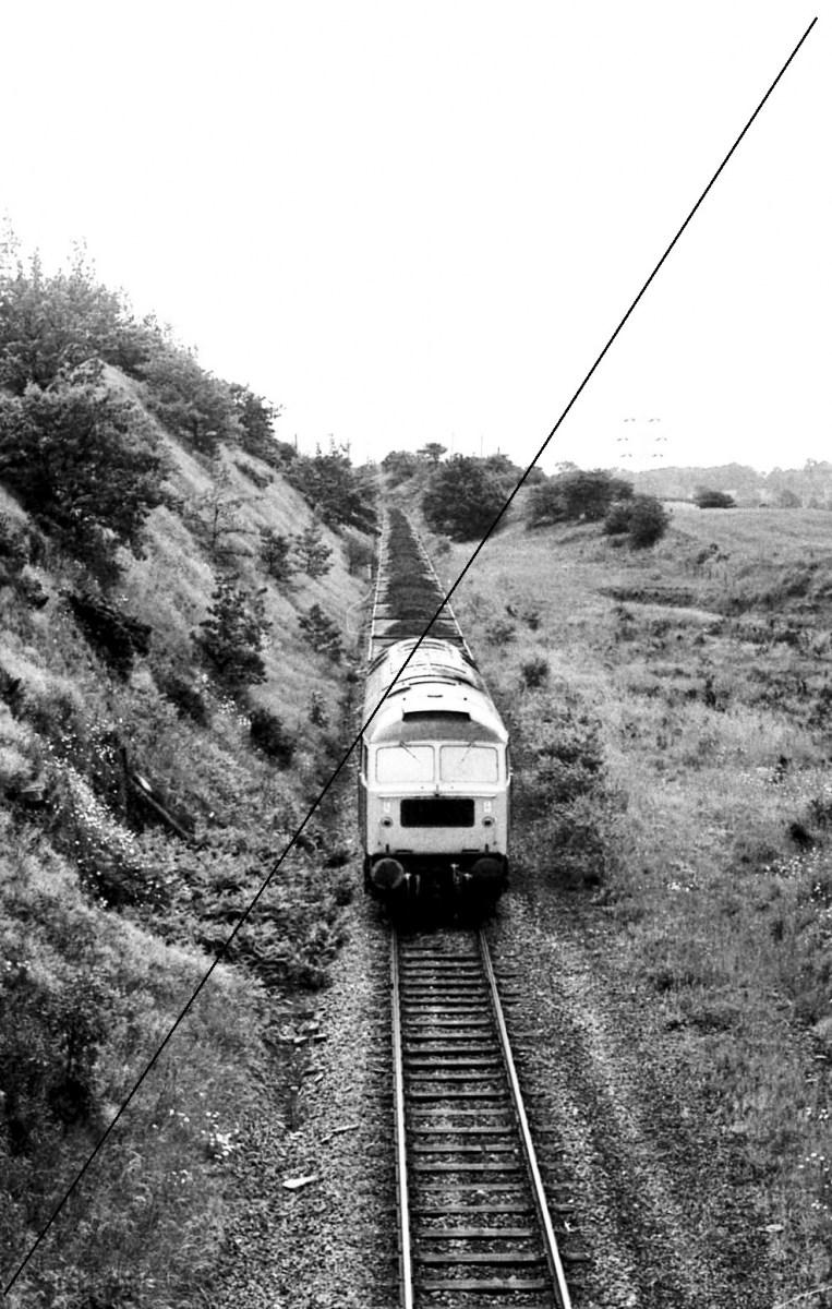 LDE007-BTL.537-1964, Class 47, No.47180 at Upperthorpe and Killamarsh Station Site-Looking South Towards Spinkhill-16-06-1977.jpg