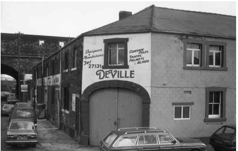 Deville, curtain equipment designers, junction of Effingham Street and Maltravers Street 1987.jpg