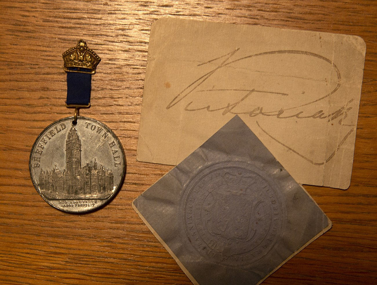 Medal received and facsimile signature.jpg